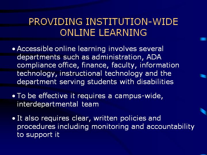 Slides and Notes for Making Online Teaching Accessible
