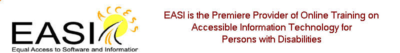 EASI: Equal Access to Software and Information Banner